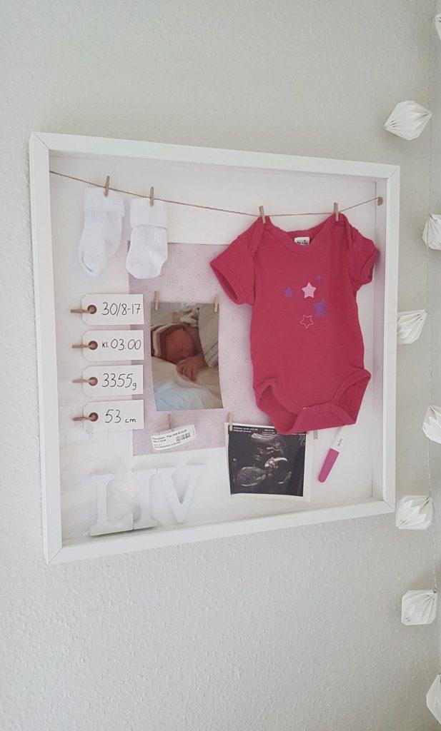 Fødselsrammen som Liv fik i 1 års fødselsdag