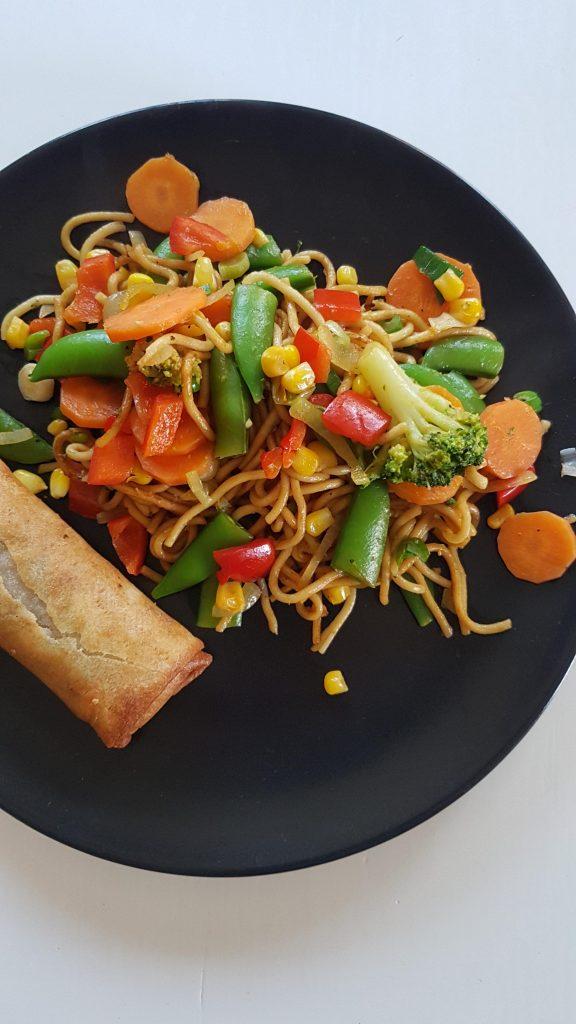 wok med grøntsager
